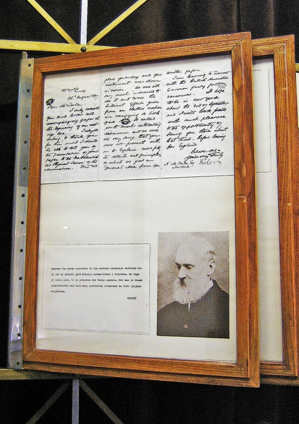 Letter to Nikola Tesla from Lord Kelvin