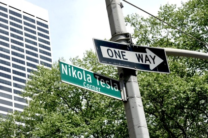 Nikola Tesla Corner, 6th Avenue at 40th St.