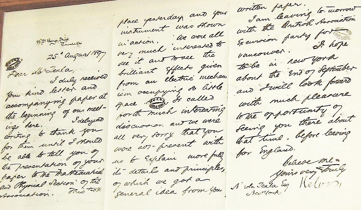 Nikola Tesla Handwriting