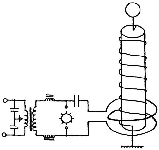 4. Tesla coil circuit diagram